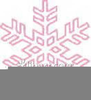 Pink Snowflakes Clipart Image