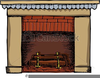 Fireplace Logs Clipart Image