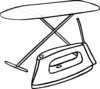 Iron And Iron Board Clip Art