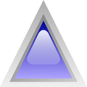 Led Triangular 1 (blue) clip art - vector clip art online, royalty ...
