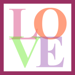 Colorful Love Icon Image