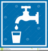 People Drinking Water Clipart Image