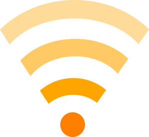 Orange Wifi Link  Clip Art