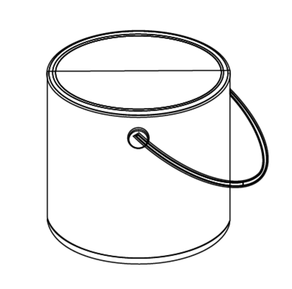 paint bucket clip art sketch coloring page