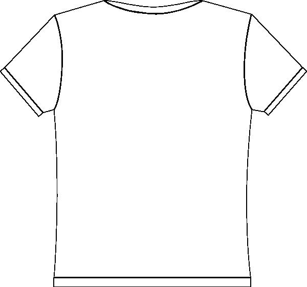 white blank tee shirt clip art at clkercom vector clip