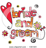 Bride And Groom Ball And Chain Clipart Image