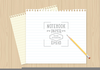 Notebook Background Vector Image
