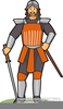Ancient Chinese Warrior Clipart Image