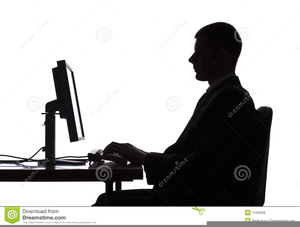 Person Sitting At Computer Clipart Free Images At Clker Com Vector Clip Art Online Royalty Free Public Domain