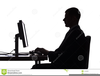 Person Sitting At Computer Clipart Image