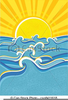 Sea Waves Clipart Image