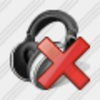 Icon Ear Phone Delete Image