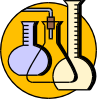 Chemical Lab Flasks Clip Art