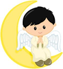 Boy And Girl Angel Clipart Image