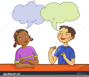 Clipart Two Children Talking | Free Images at Clker.com ...