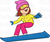 Clipart Snowboarder Image