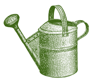 Watering Can Clipart Black White Image