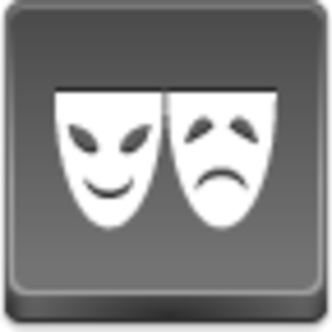 Free Grey Button Icons Theater Symbol Image