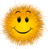 Fluffy Smiley Clip Art