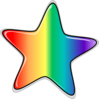 Rainbow Star Edited Clip Art