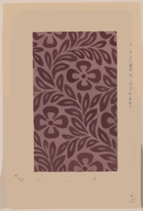 Textile Design With Flower Motif Clip Art