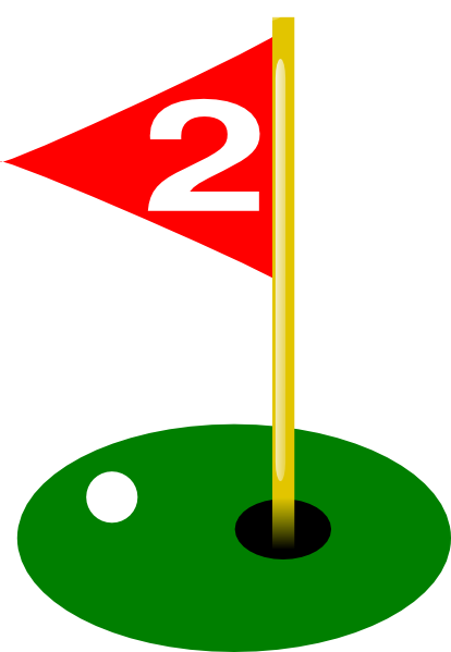 Golf Flag 2nd Hole Bold Ball Clip Art at Clker.com ... Golf Hole Clip Art