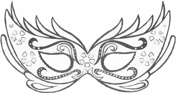 Mask Black And White Drawing Mask Clipart