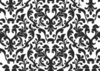 Damask Black And White Wallpaper Clip Art