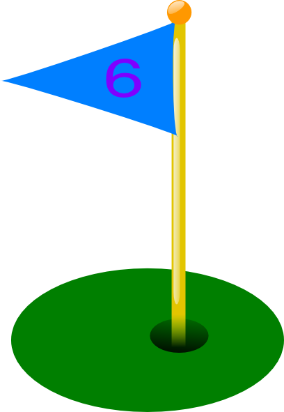 Golf Flag 6th Hole Clip Art at Clker.com - vector clip art ... Golf Hole Clip Art