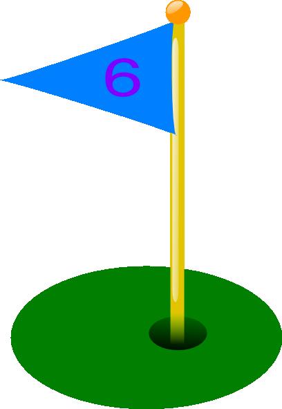 Golf hole flag clipart
