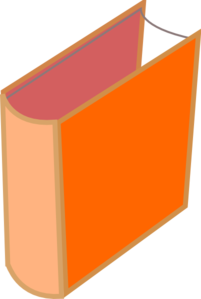 Small Orange Book Clip Art