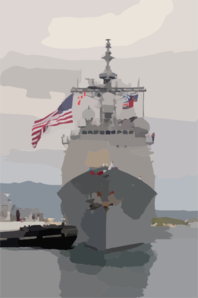 Assisted By A Harbor Tug, Uss Chosin (cg 65) Inches Her Last Few Feet Back Home Toward Her Berth In Pearl Harbor, Hawaii Clip Art