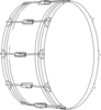 Drum Outline Clip Art