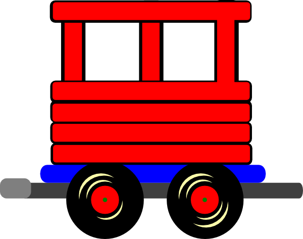 Loco Train Carriage Clip Art at Clker.com - vector clip art online ...