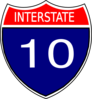 I-10 Sign Clip Art