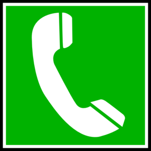 Green Telephone Clip Art