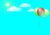 Flying Balloon Clip Art
