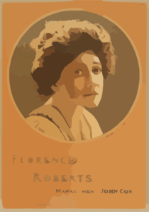 Florence Roberts  / From Photo By Hall, New York. Clip Art