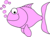 Pink Fish Bubbles Clip Art