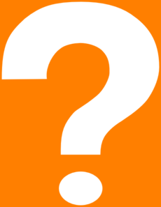 Question Mark Orange Clip Art