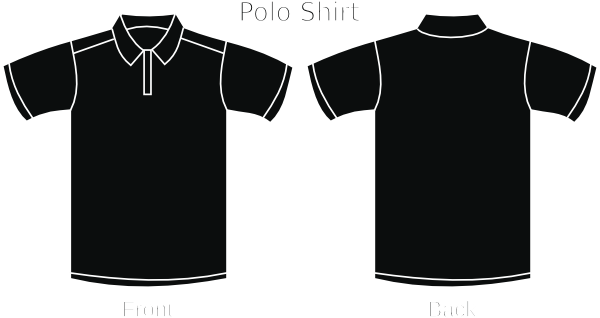 Black polo shirt clip art at vector clip art for Polo shirt design template