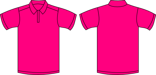 Hot Pink Short Sleeved Polo Shirt Clip Art at Clker.com - vector clip ...