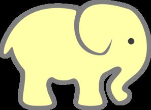 yellow baby elephant clip art at clker com vector clip art online rh clker com baby elephant clip art free images baby elephant clipart free