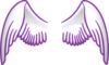 Purple Stroked Wings Clip Art