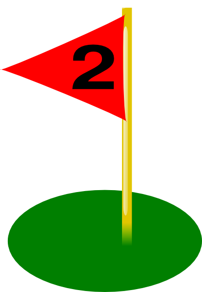 Golf Flag 2nd Hole Bold Number Clip Art at Clker.com ... Golf Hole Clip Art