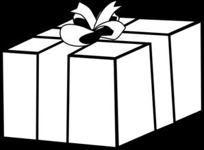 Gift Present Outline Clip Art at Clker.com - vector clip art online ...
