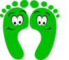 Green Happy Feet Clip Art