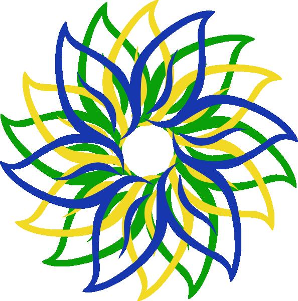 Multi-colored Flower Clip Art at Clker.com - vector clip ...