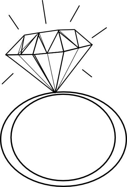 Diamond Ring.bmp Clip Art at Clker.com - vector clip art ...