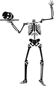 Skeleton Carry Skull Clip Art